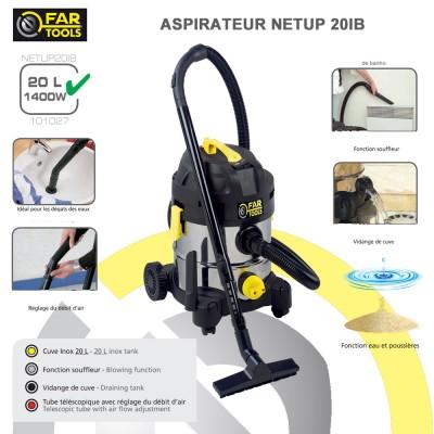 Aspirateur eau poussière NET-UP20IB