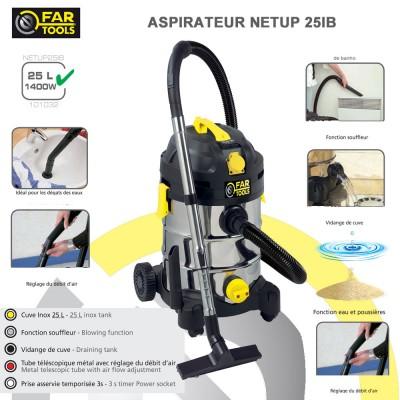 Aspirateur eau poussière NET-UP25IB