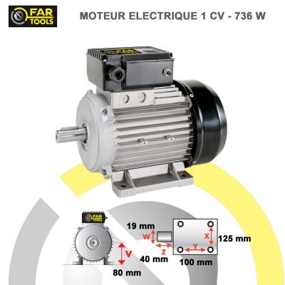 Moteur électrique 1 CV Alu
