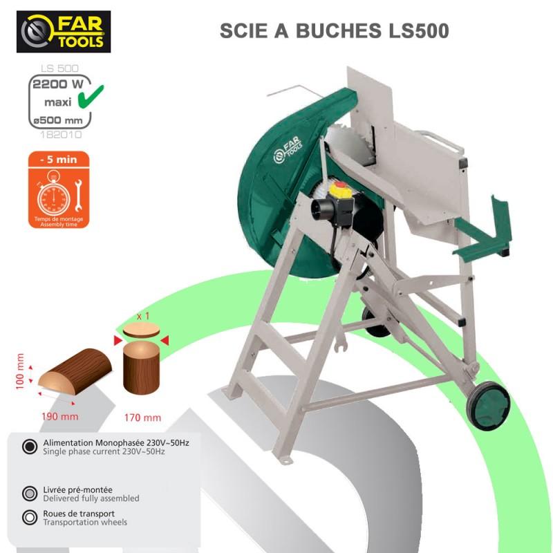 scie buche ls500 182010 fartools. Black Bedroom Furniture Sets. Home Design Ideas