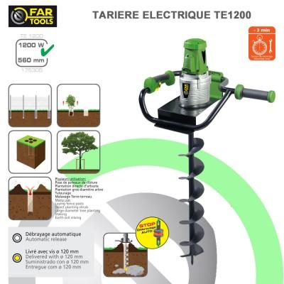 Tarière Electrique TE 1200 + vis