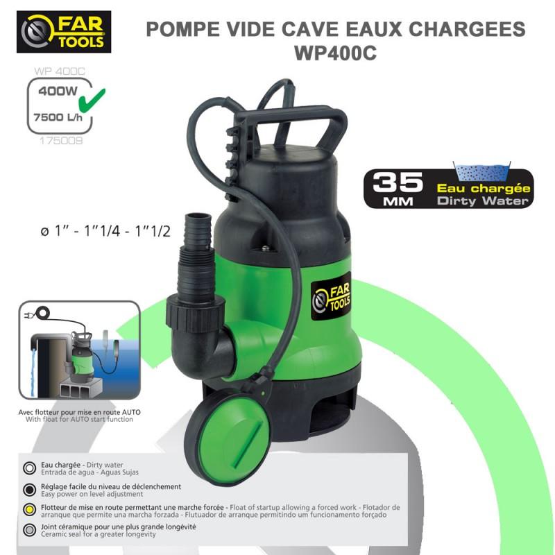 Pompe vide cave eau charg e wp400b 175009 fartools - Pompe vide cave pour piscine ...