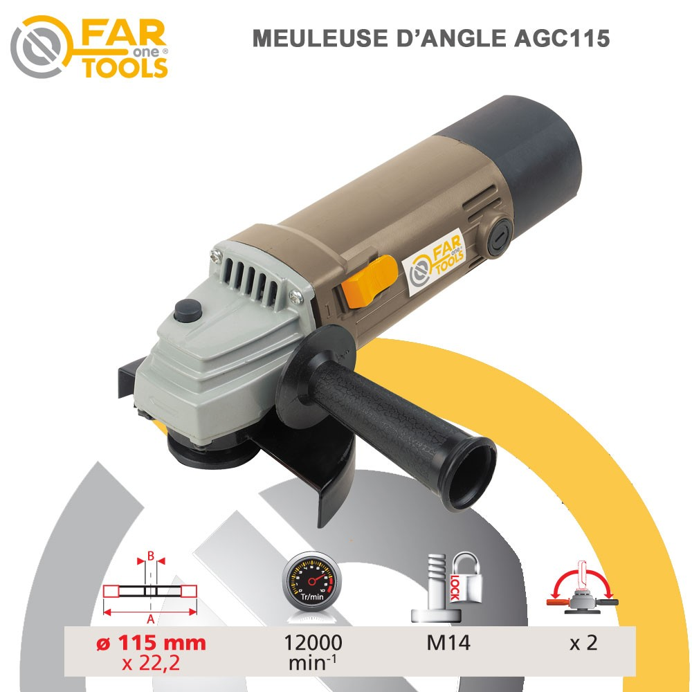 Meuleuse d 39 angle agc115115028 fartools - Meuleuse d angle ...