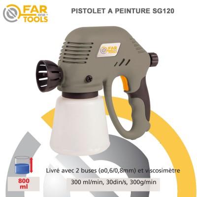 pistolet peinture lectrique sg120 115523 fartools. Black Bedroom Furniture Sets. Home Design Ideas