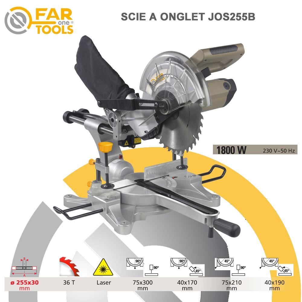 Scie onglet radiale jos255 263 09 fartools - Scie a onglet radiale ...