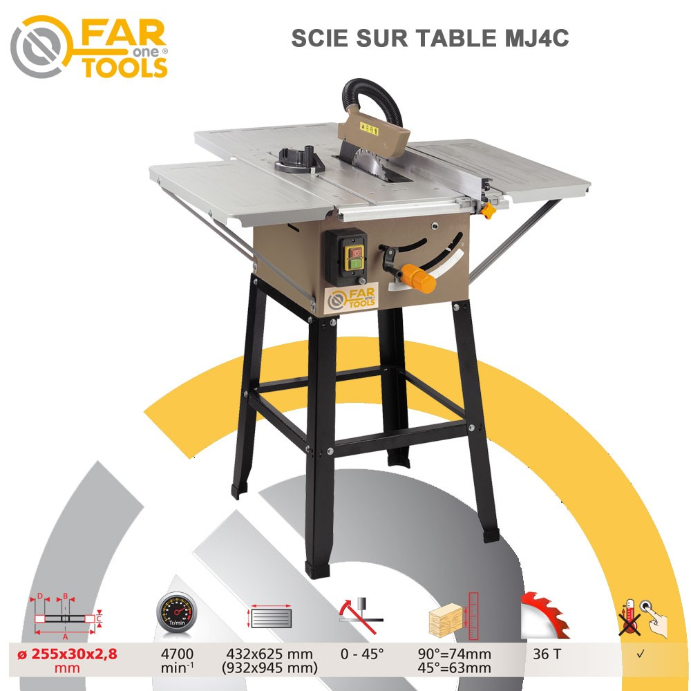 scie circulaire de table mj4c 113385 fartools. Black Bedroom Furniture Sets. Home Design Ideas