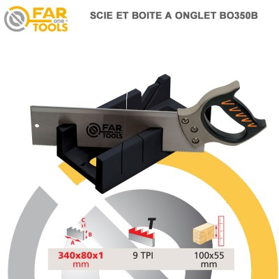 Scie boite coupe d'onglet BO350
