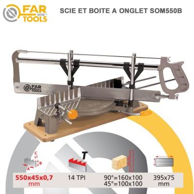 Scie à onglet manuelle SOM550B