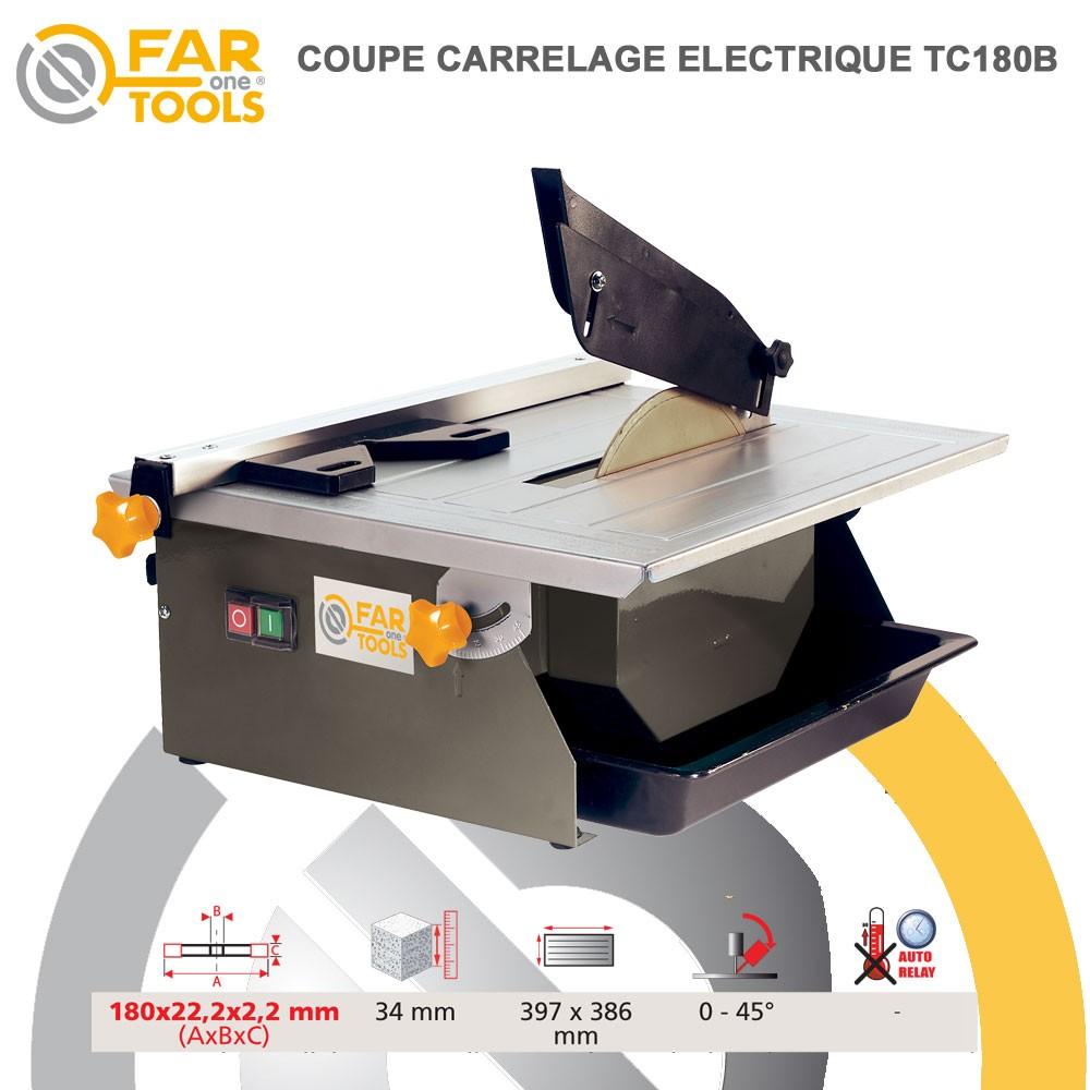 Coupe carrelage tc180b 113500 fartools for Coupe carrelage