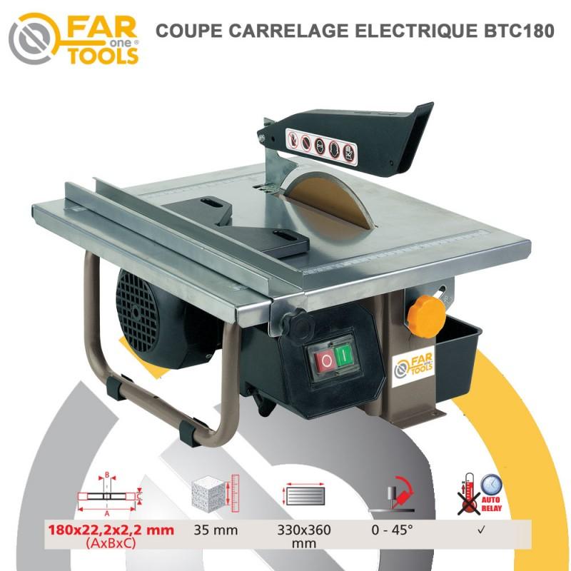 Coupe carrelage btc180 113540 fartools for Coupe plinthe carrelage a 45