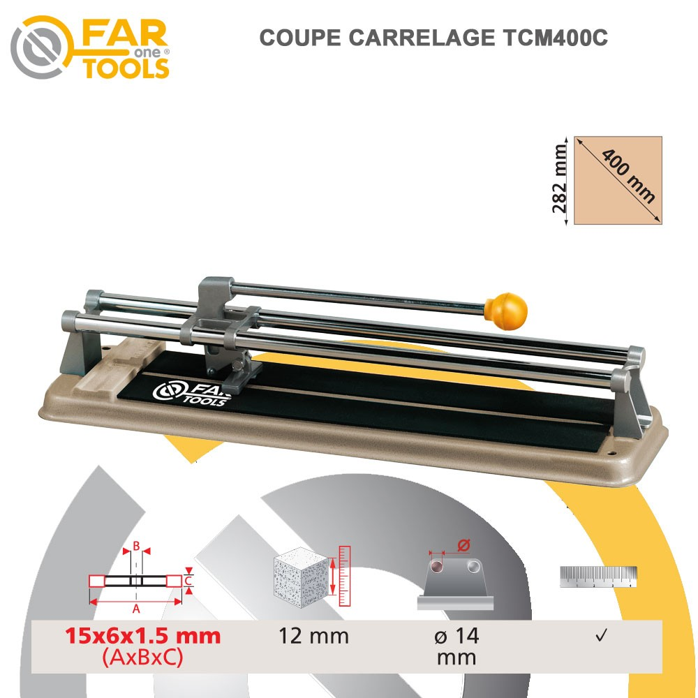 Coupe carrelage manuel tcm400c 210120 fartools for Coupe carrelage manuel