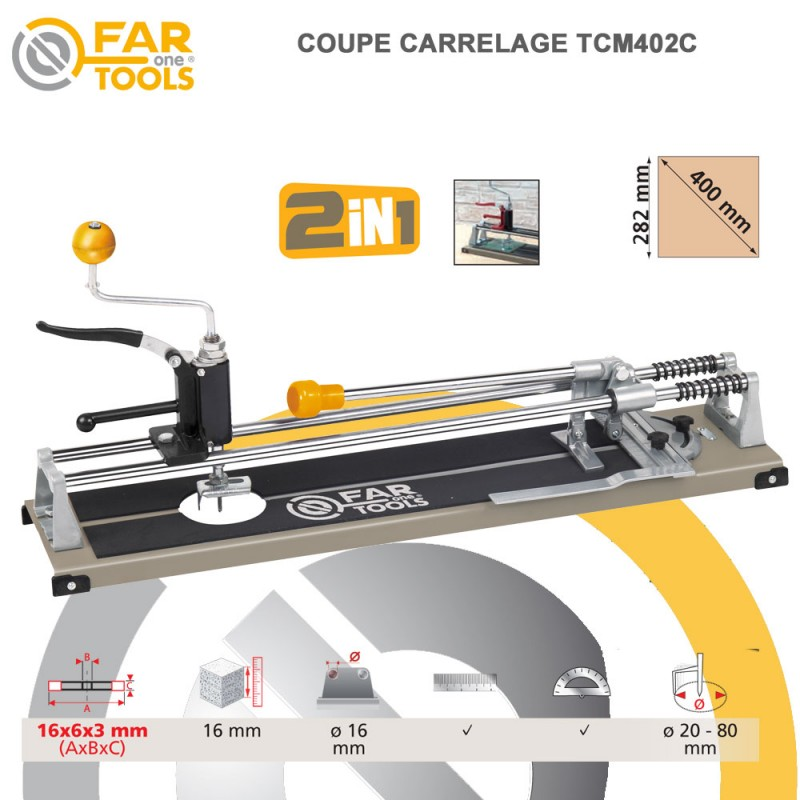 Coupe carrelage manuel tcm402c 210140 fartools for Coupe carrelage
