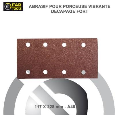 10 Feuilles abrasifs 1/2 A40 - 228 mm