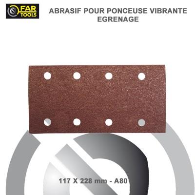 10 Feuilles abrasifs 1/2 A80 - 228 mm