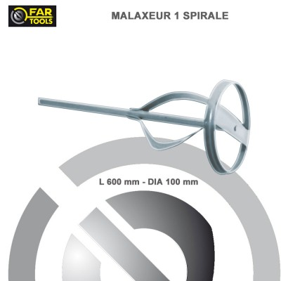Malaxeur 1 spirale 600 mm