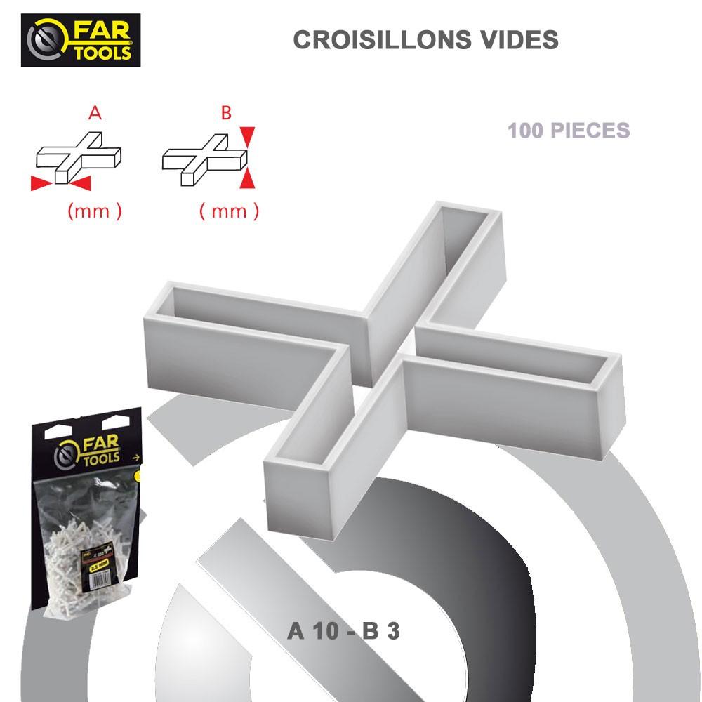 Croisillons Vide 10 Mm X 3 Mm 100 Pcs