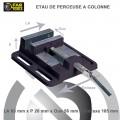 Étau de serrage mécanique pour perceuse à colonne
