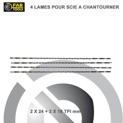 Lot de 4 Lames de scie à chantourner 127 mm - 7.2 et 9.6 DPC