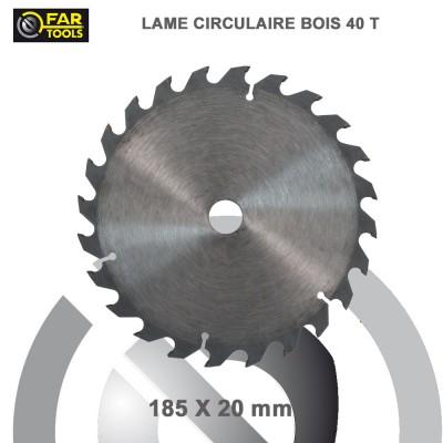 Lames circulaire TCT Diam 185 mm - 40T