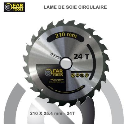 Lames circulaire TCT Diam 210 mm - 24T