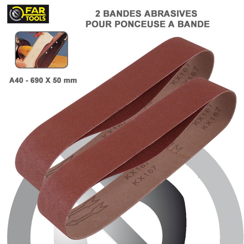 lot de 2 bandes abrasives pour touret meuler a40. Black Bedroom Furniture Sets. Home Design Ideas