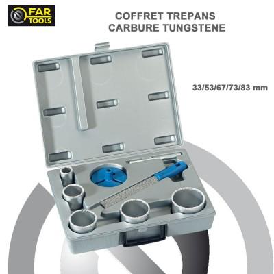 Coffret 5 trépans carbure de tungstène