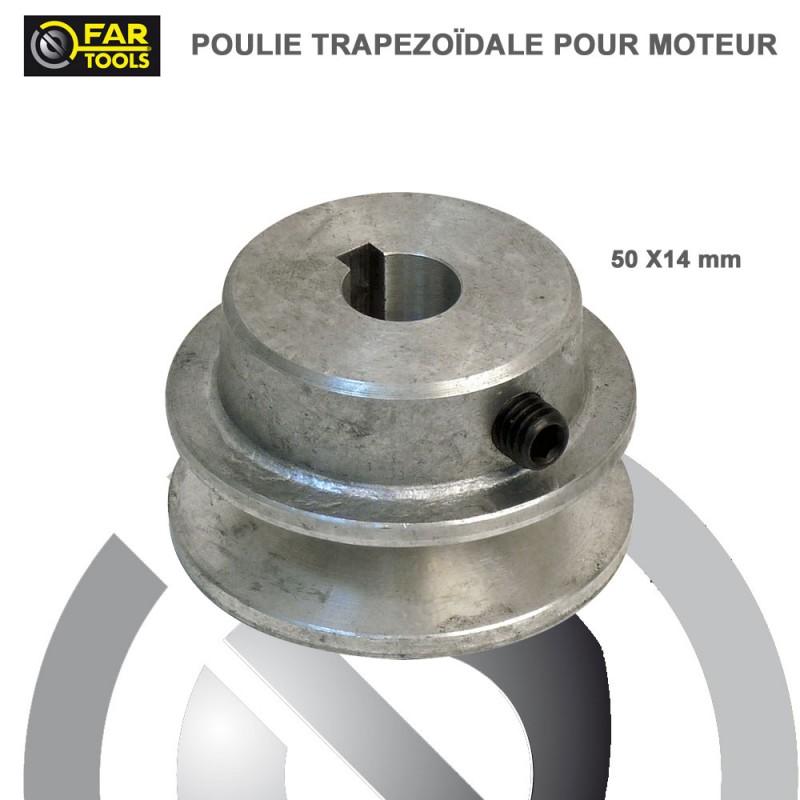 Poulies Aluminium diamètre 50 x 14 mm