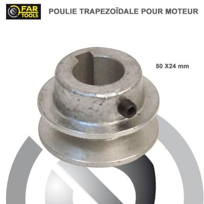 Poulies aluminium diamètre 50 x 24 mm