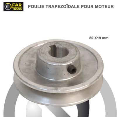 Poulies aluminium diamètre 80 x 19 mm