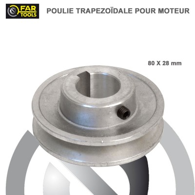 Poulies aluminium diamètre 80 x 28 mm
