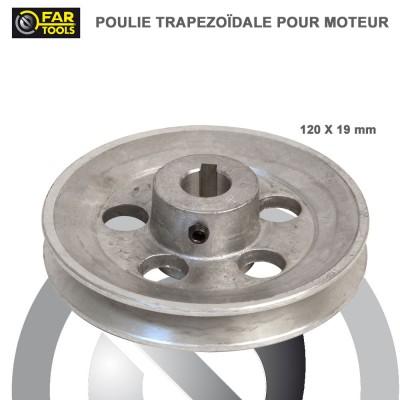 Poulies aluminium diamètre 120 x 19 mm