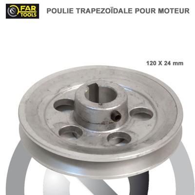 Poulies aluminium diamètre 120 x 24 mm