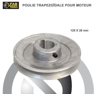 Poulies aluminium diamètre 120 x 28 mm