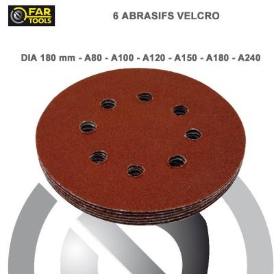 Disque abrasif ponceuse à plâtre DWS180 - 6 pces