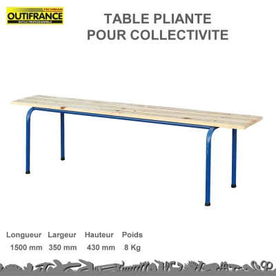 Banc de chantier empilable