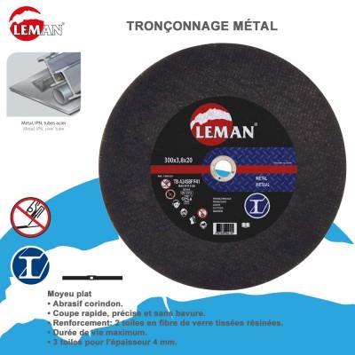 Disques à tronçonner métal moyeu plat - 10 pièces