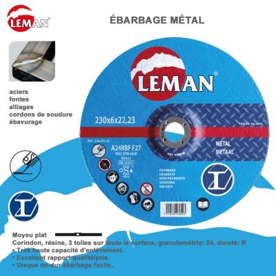 Disques d'ébarbage métal moyeu déporté - 10 pièces