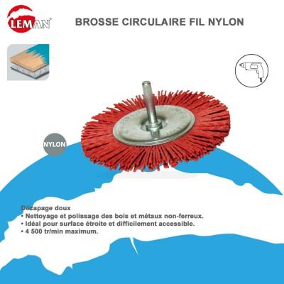 Brosse circualire fil nylon pour perceuse