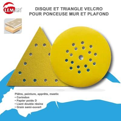 Disque abrasif 125 mm - 18+1 trous - 25 pces