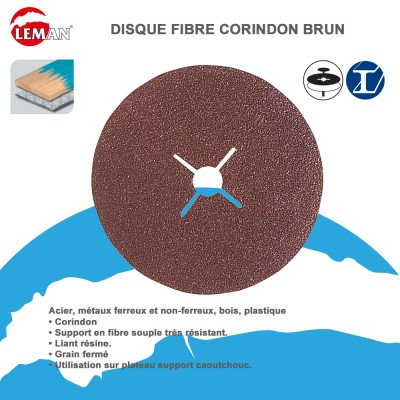 Disque abrasif Fibre Corindon brun - Lot de 25
