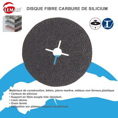 Disques abrasifs fibre carbure de silicium (Lot de 25)