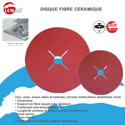 Disques abrasifs fibre céramique - Lot de 25