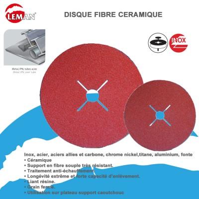 Disques abrasifs fibre céramique (Lot de 25)