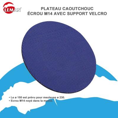 Plateau caoutchouc écrou M14 Velcro pour meuleuse