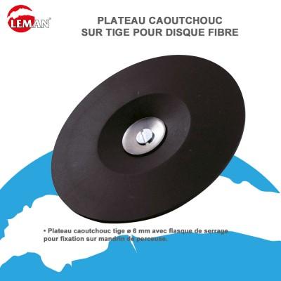 Plateau Caoutchouc sur tige de 8 mm support Velcro