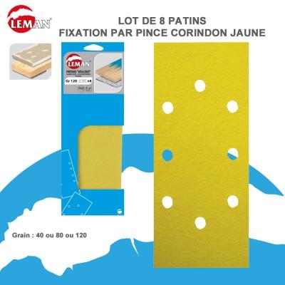 Patins abrasifs pour ponceuse vibrante - 93-115/230-280 mm - Lot de 8