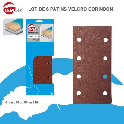Patins abrasifs pour ponceuse vibrante velcro 93-115/185-230 - Lot de 6
