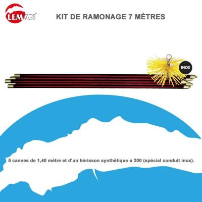 Kit de ramonage 7 m tres avec h risson rond nylon kit200n - Kit de ramonage ...