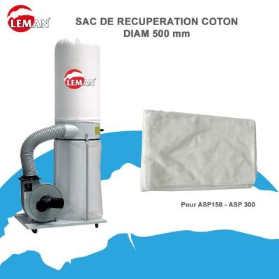 Sac de récupération (lot)en coton D500 mm