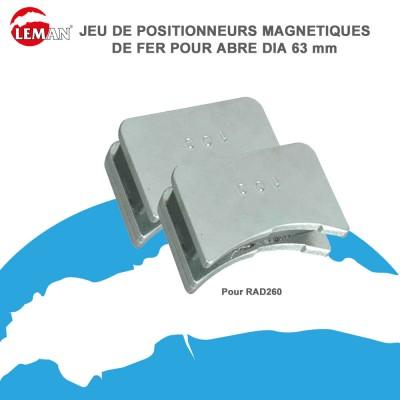 Positionneurs magnétiques de fers 63 mm - Jeu de 2